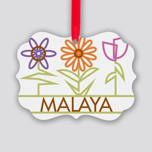 MALAYA-cute-flowers Picture Ornament