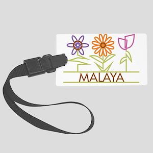 MALAYA-cute-flowers Large Luggage Tag