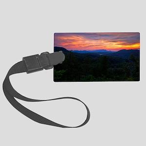 110712_Bluff Mountain Sunset_031 Large Luggage Tag