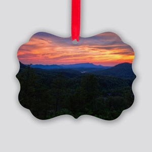 110712_Bluff Mountain Sunset_031_ Picture Ornament