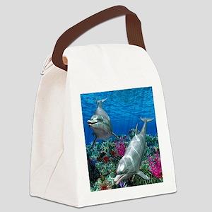 oceanworld_368_V_F Canvas Lunch Bag