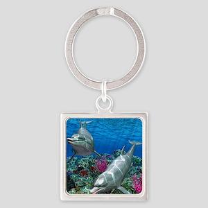 oceanworld_368_V_F Square Keychain