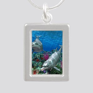oceanworld_368_V_F Silver Portrait Necklace