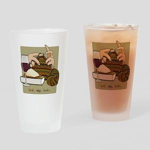 knitsip2 Drinking Glass