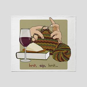 knitsip2 Throw Blanket