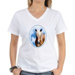 Palomino Pony Women's V-Neck T-Shirt