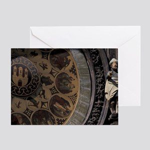 Astrological Clock d Town Hall, Ast Greeting Card