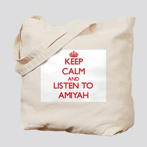 Keep Calm and listen to Amiyah Tote Bag