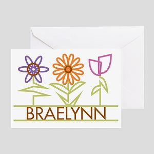 BRAELYNN-cute-flowers Greeting Card