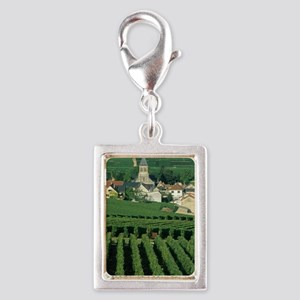 Vineyards around Oger, Marne Silver Portrait Charm