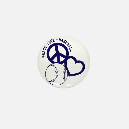 P,L,Baseball, navy Mini Button