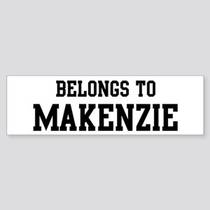 Belongs to Makenzie Bumper Sticker