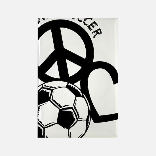 P,L,Soccer, black Rectangle Magnet
