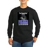 Look Whos Coming in July Long Sleeve Dark T-Shirt