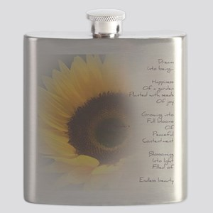 Sunflower Dream Poem Flask