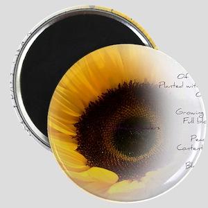 Sunflower Dream Poem Magnet