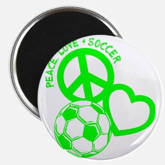 P,L,Soccer, neon green Magnet