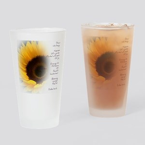Sunflower Dream Poem Drinking Glass