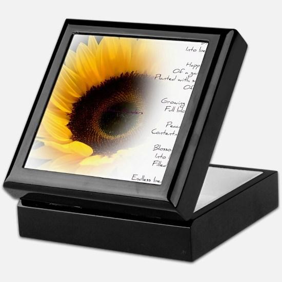 Sunflower Dream Poem Keepsake Box