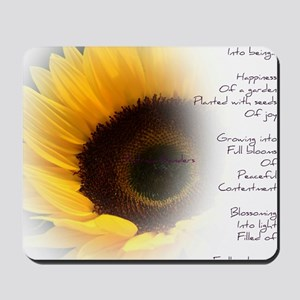 Sunflower Dream Poem Mousepad