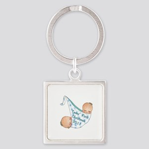 boy_round_ornament_2011 Square Keychain