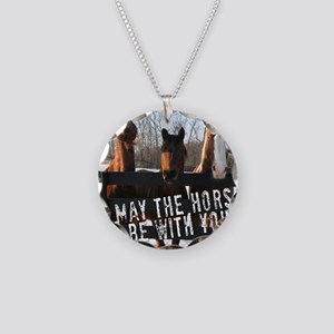 MaytheHorse10x10 Necklace Circle Charm