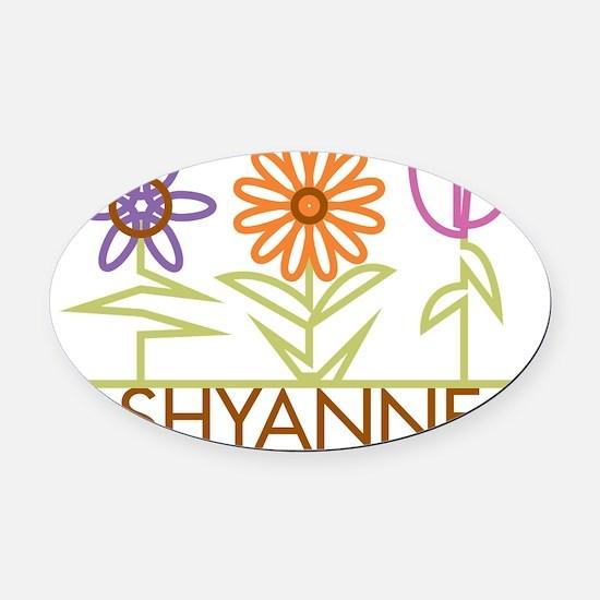 SHYANNE-cute-flowers Oval Car Magnet
