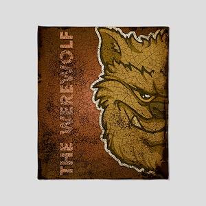 ipadsleeve_txt_werewolf_brown Throw Blanket