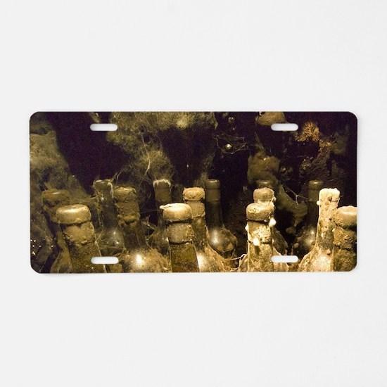 Old bottle of calvadosle, C Aluminum License Plate