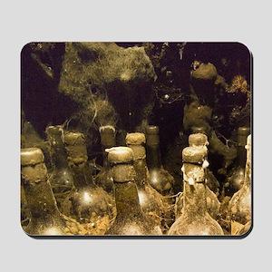 Old bottle of calvadosle, Calvados Morin Mousepad