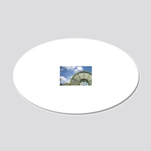 Entrance to the Forum des Ha 20x12 Oval Wall Decal
