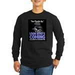Look Whos Coming in October Long Sleeve Dark T-Shi
