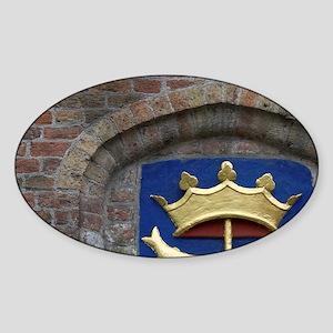 Belgium, West Flanders, Bruges, cre Sticker (Oval)