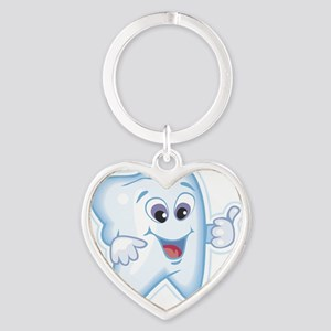 9987466thumbs up tooth Heart Keychain