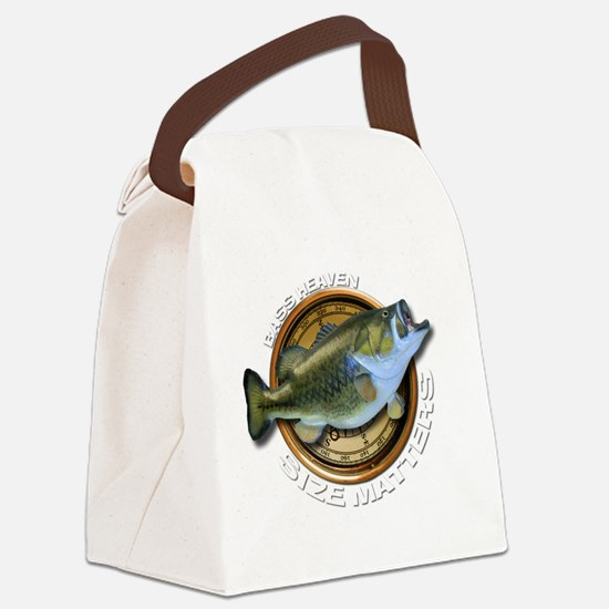 Size Matters Bass Canvas Lunch Bag