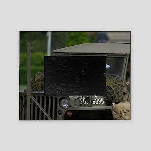 Military jeep, Czech Republic, Pragu Picture Frame