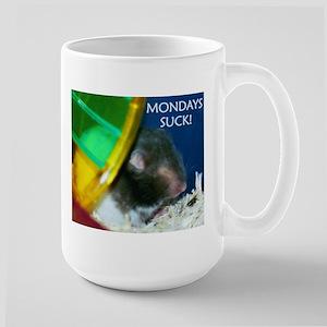 Hampster Mondays Suck Large Mug