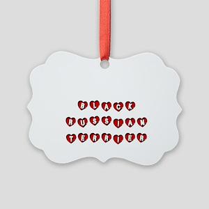 BLACK RUSSIAN TERRIER Picture Ornament