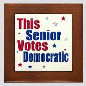 seniorvotes cp Framed Tile