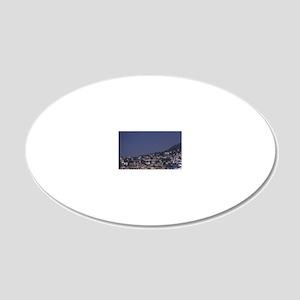 EU, France, Cote D'Azur, Vil 20x12 Oval Wall Decal