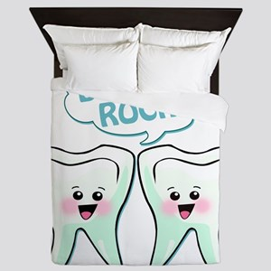 774652459dentistsrock Queen Duvet