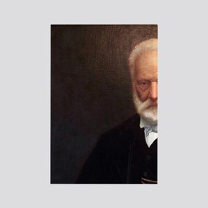 The portrait of Victor Hugo on th Rectangle Magnet
