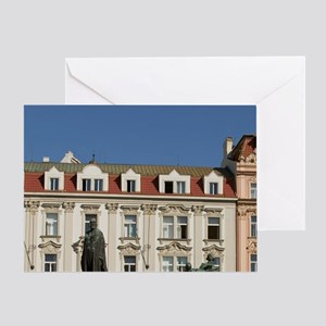 Old town square, Czech Republic, Pra Greeting Card