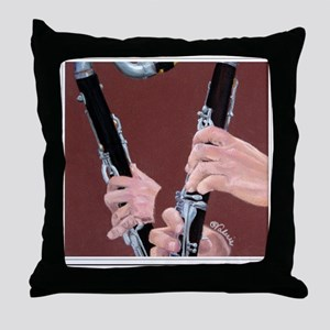Clarinet Hands Shirt Throw Pillow