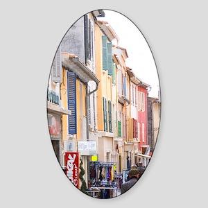 People walking on the street Sanary Sticker (Oval)