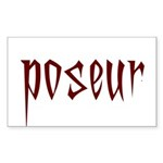 Poseur Rectangle Sticker