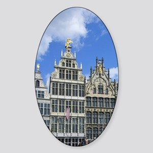 Belgium, Flanders, Antwerp Province Sticker (Oval)