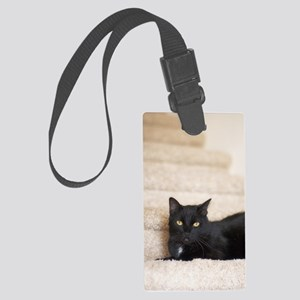 5x8_journal_blackCat_0123 Large Luggage Tag
