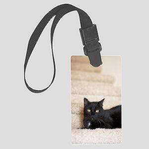 5x8_journal_blackCat_0123 Large Luggage Tag
