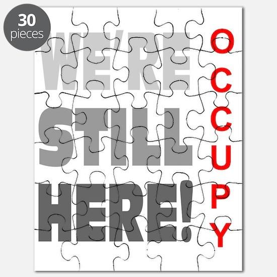 were still here occupy tri color gray Puzzle